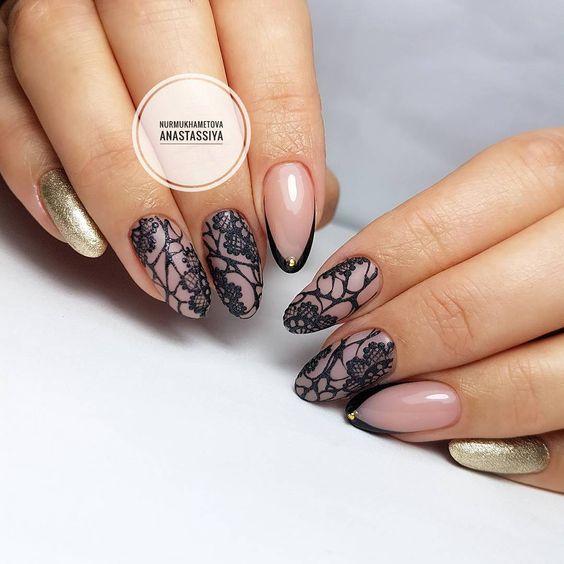 Красивый дизайн ногтей 2019 на короткие ногти (24)