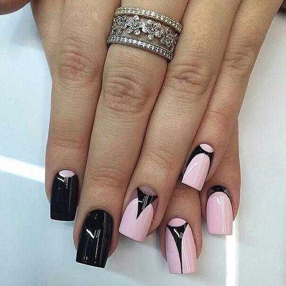 Красивый дизайн ногтей 2019 на короткие ногти (22)
