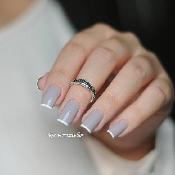Красивый дизайн ногтей 2019 френч (4)