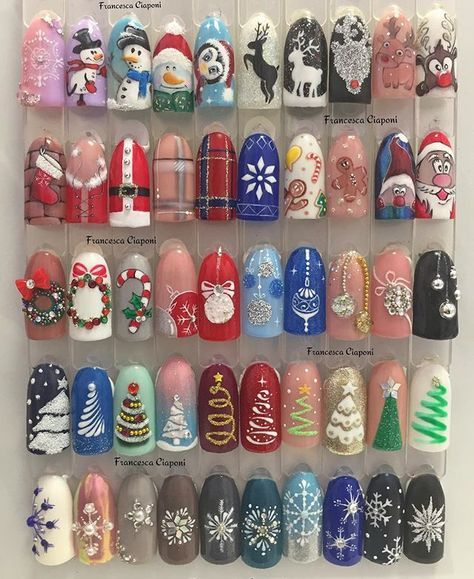Дед Мороз на ногтях (24)