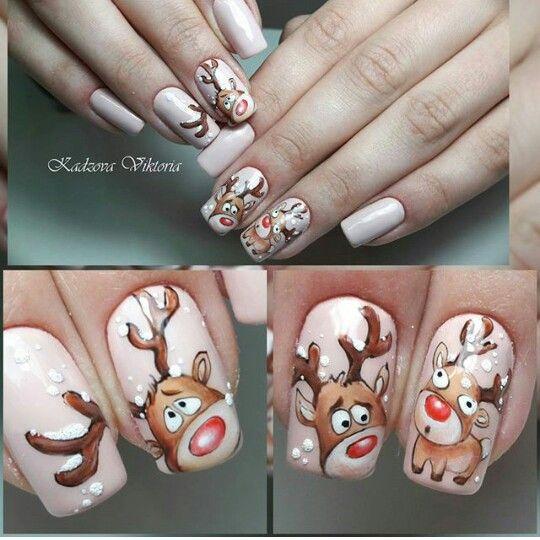 Олень на ногтях (15)