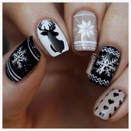 Ногти со снежинками (10)