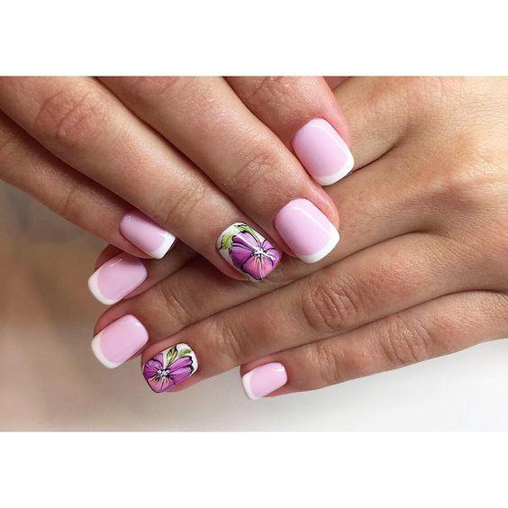 Красивый дизайн ногтей 2019 на короткие ногти (56)