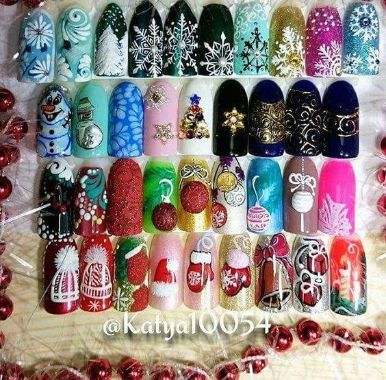 Олень на ногтях (13)