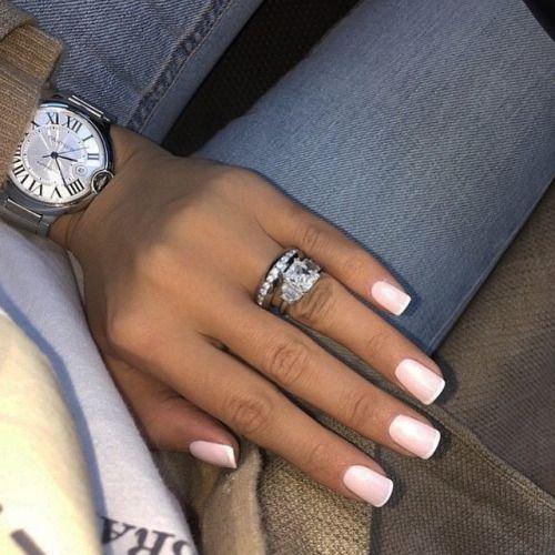 Красивый дизайн ногтей 2019 френч (44)