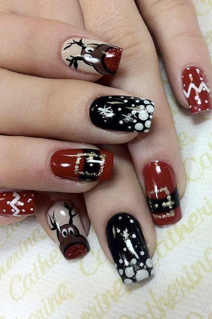 Олень на ногтях (3)