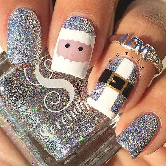 Дед Мороз на ногтях (20)