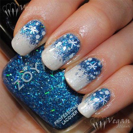 Ногти со снежинками (8)