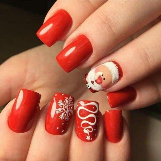 Дед Мороз на ногтях (18)