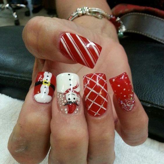 Дед Мороз на ногтях (13)