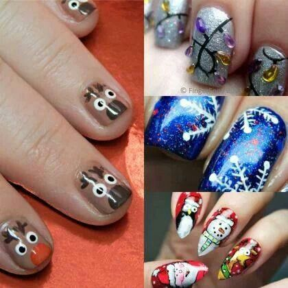Олень на ногтях (16)