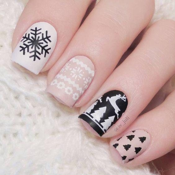 Ногти со снежинками (7)