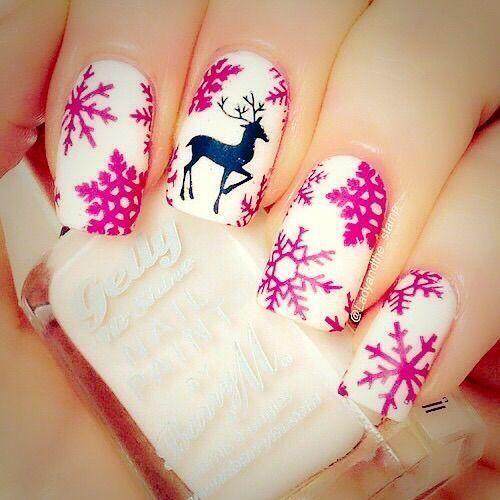 Ногти со снежинками (5)