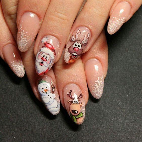 Дед Мороз на ногтях (22)