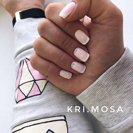 Красивый дизайн ногтей 2019 френч (31)