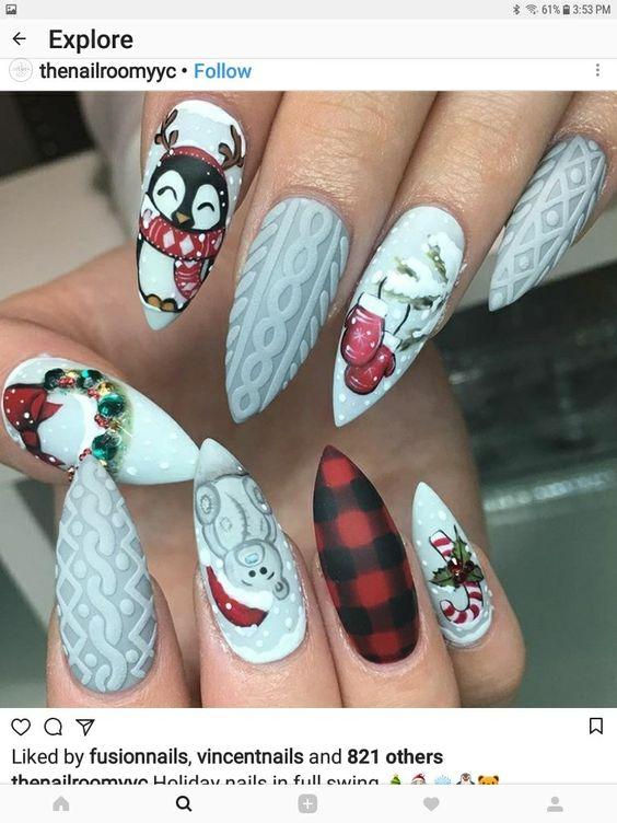 Ногти со снежинками (27)
