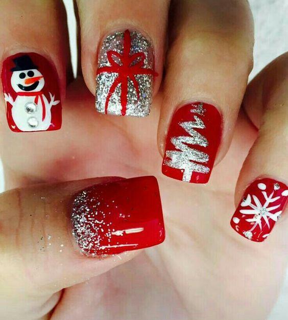 Ногти со снежинками (26)
