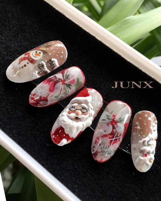 Олень на ногтях (8)
