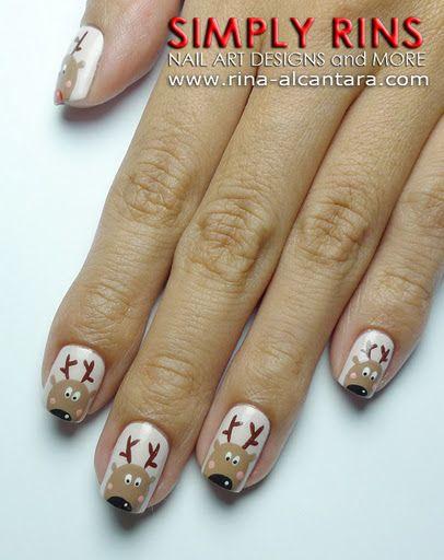 Олень на ногтях (7)