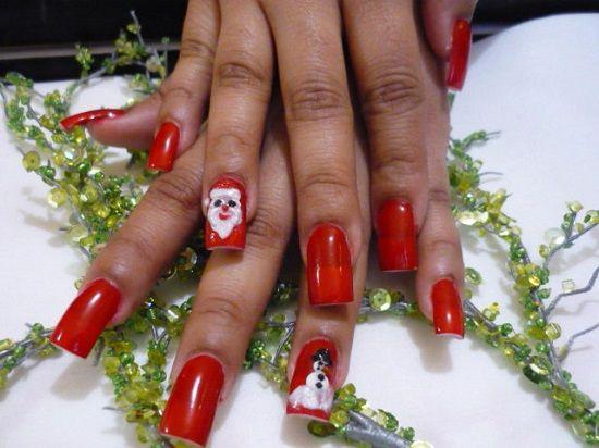 Дед Мороз на ногтях (7)