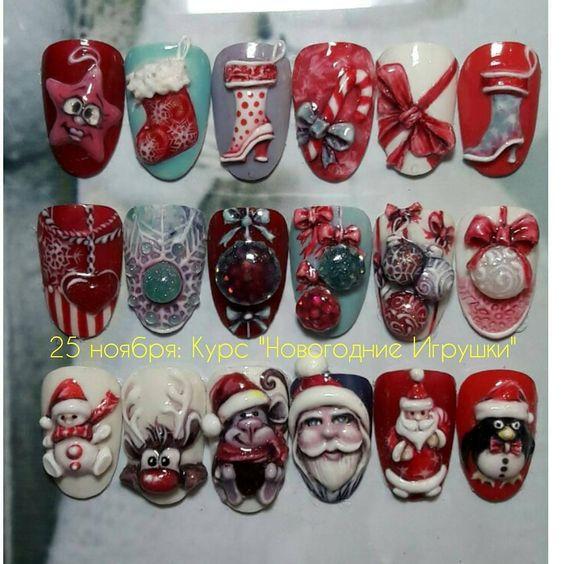 Дед Мороз на ногтях (27)