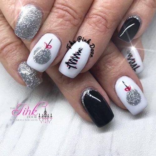 Ёлка на ногтях (20)