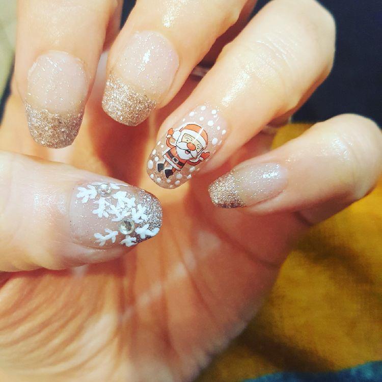 Дед Мороз на ногтях (6)