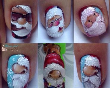 Дед Мороз на ногтях (5)