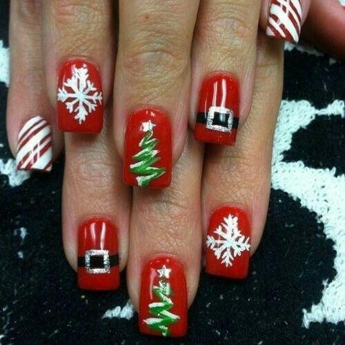 Дед Мороз на ногтях (4)