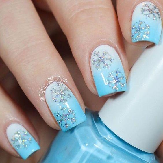 Ногти со снежинками (2)