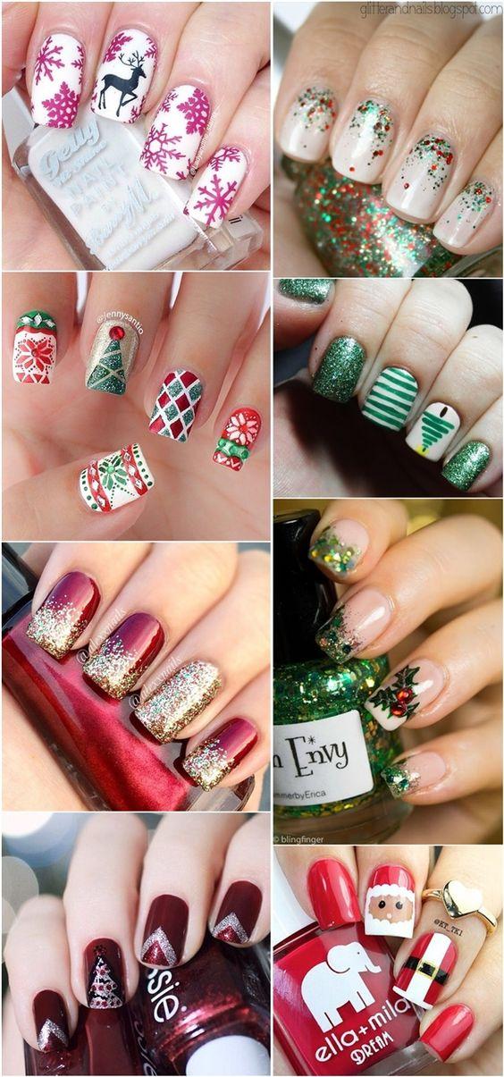 Дед Мороз на ногтях (25)