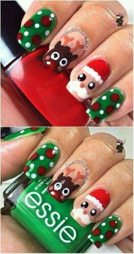 Дед Мороз на ногтях (3)