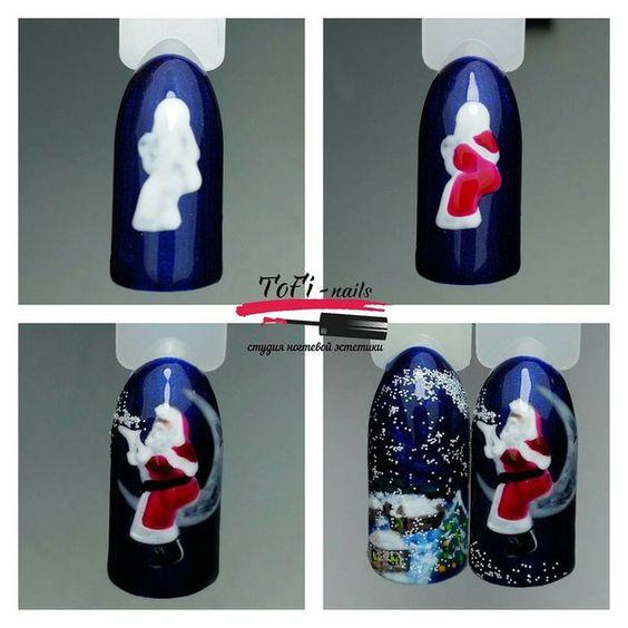 Дед Мороз на ногтях (2)