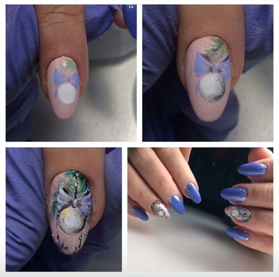 Красивый дизайн ногтей 2019 на короткие ногти (3)