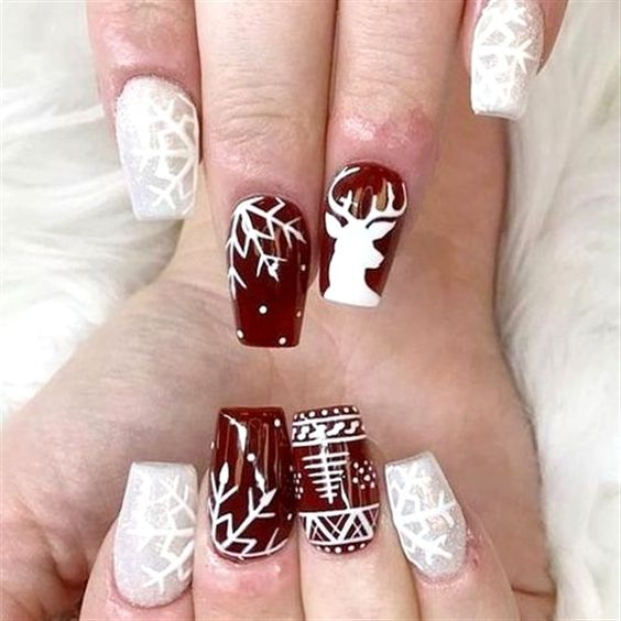 Ногти со снежинками (1)