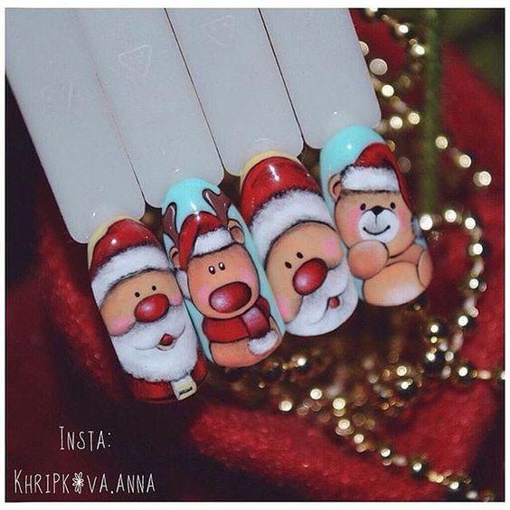 Дед Мороз на ногтях (1)