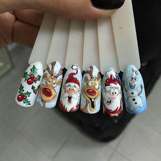Олень на ногтях (4)