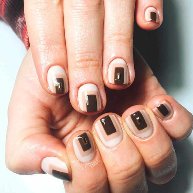 Красивый дизайн ногтей 2019 на короткие ногти (38)