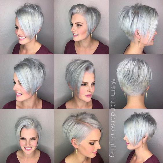 Новогодние причёски на короткие волосы 2019 (43)