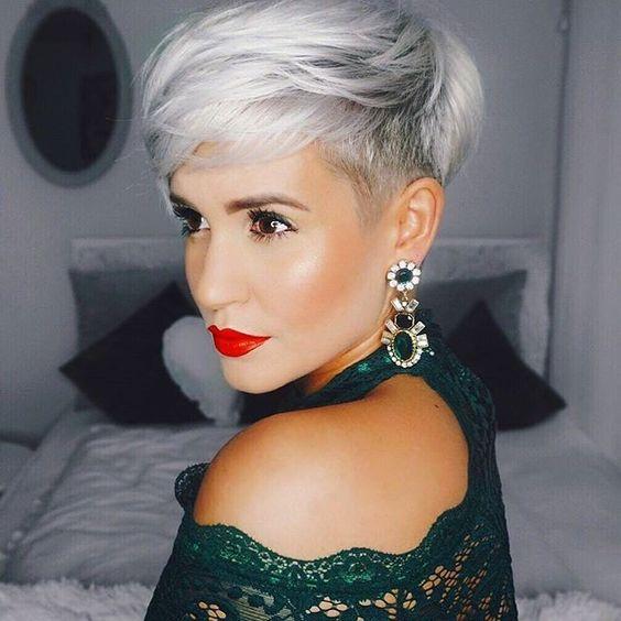 Новогодние причёски на короткие волосы 2019 (60)