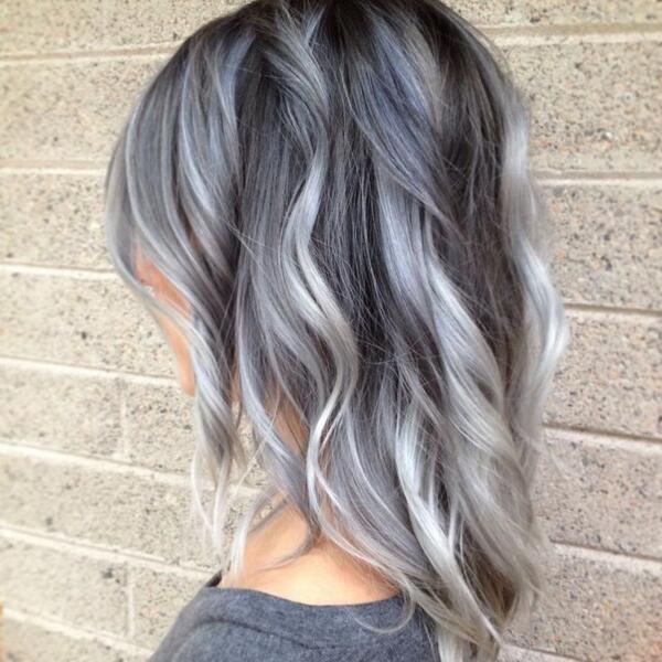 Темные корни светлые волосы (71)