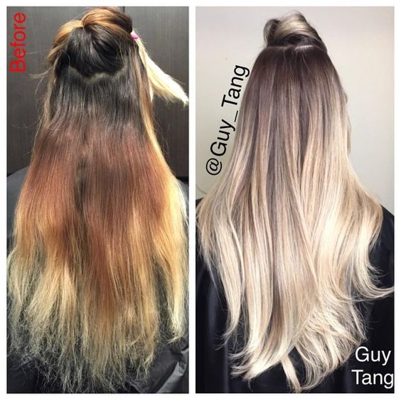 Темные корни светлые волосы (7)