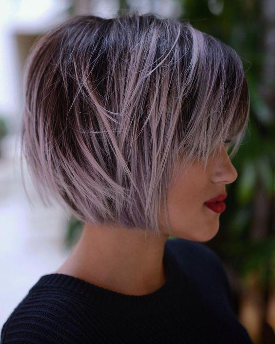 Чёлка на средние волосы 2019 (37)