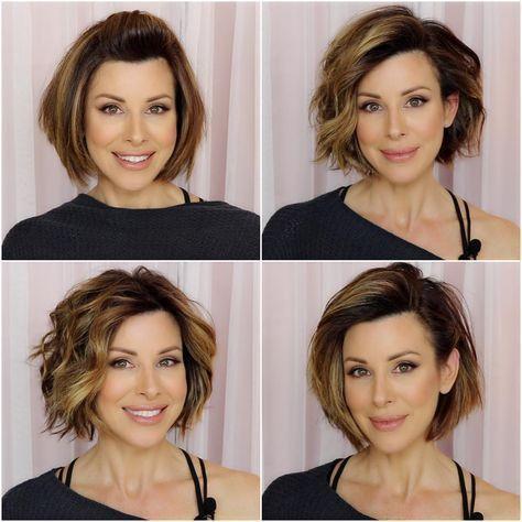 Новогодние причёски на короткие волосы 2019 (49)