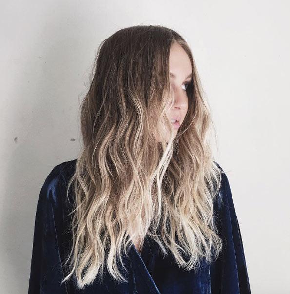 Темные корни светлые волосы (44)