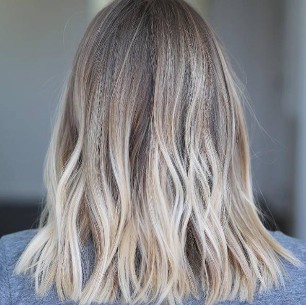 Темные корни светлые волосы (42)