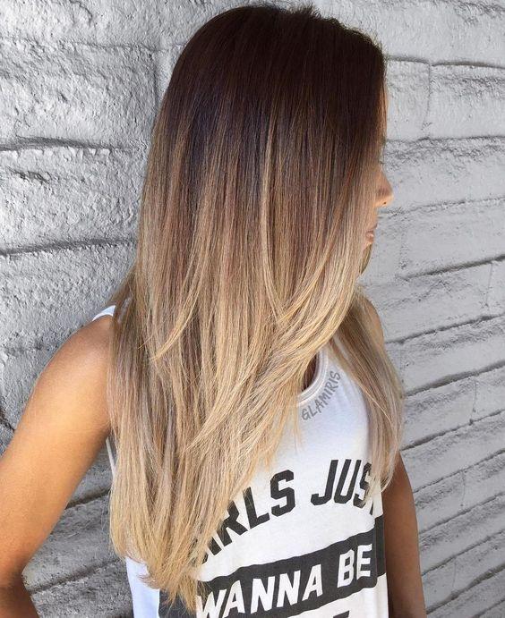 Темные корни светлые волосы (43)
