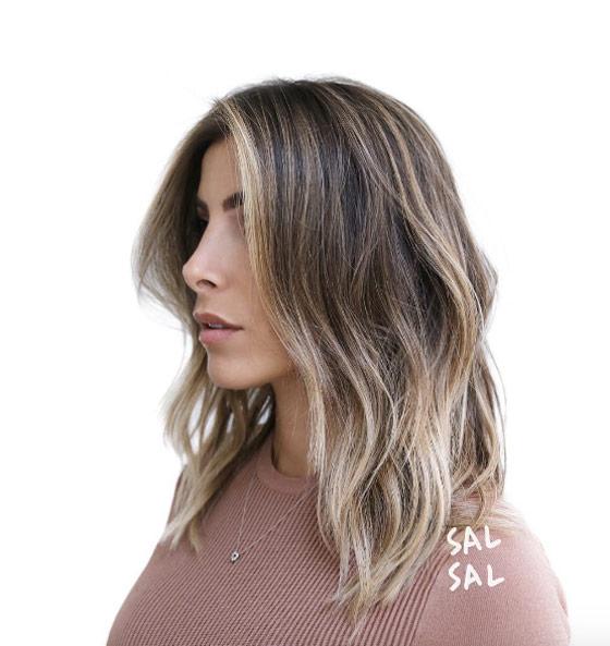 Темные корни светлые волосы (40)