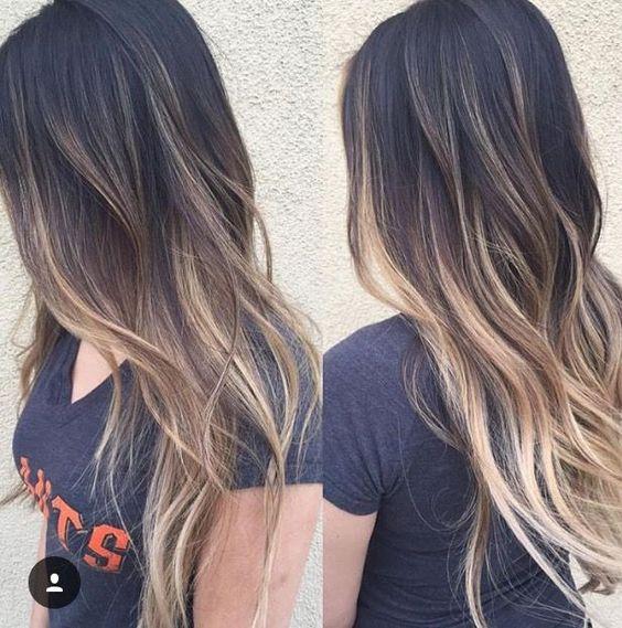 Темные корни светлые волосы (25)