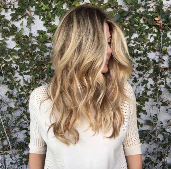 Темные корни светлые волосы (37)